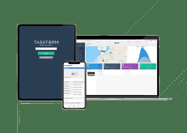 Taskform app voor erp